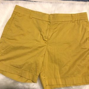 "J Crew Size 12 Chino Shorts Mustard 7"" Inseam"